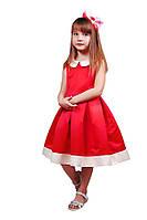Красивое нарядное платье 15-257 для девочки от 9 до 13 лет (р. 128-152) ТМ Kids Couture Красный