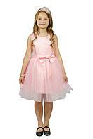 Нарядное платье 15-250 с объемной юбкой для девочки от 4 до 10 лет (р. 98-134) ТМ Kids Couture Розовый