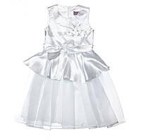 Оригинальное праздничное платье 15-408 для девочки от 4 до 9 лет (р. 28-34) ТМ Kids Couture Белый