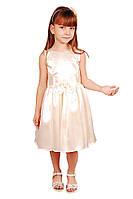 Симпатичное нарядное платье 15-409 для девочки от 4 до 9 лет (р. 28-34) ТМ Kids Couture Молочный