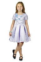 Торжественное красивое платье 15-255 для девочки от 5-10 лет (р. 104-134) от ТМ Kids Couture Сиреневый