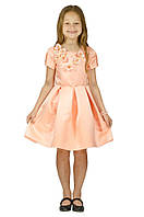 Торжественное красивое платье 15-255 для девочки от 5-10 лет (р. 104-134) ТМ Kids Couture Персиковый