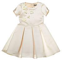 Торжественное красивое платье 15-255 для девочки от 5-10 лет (р. 104-134) от ТМ Kids Couture Молочный