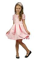 Торжественное красивое платье 15-255 для девочки от 5-10 лет (р. 104-134) от ТМ Kids Couture Розовый