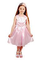 Элегантное нарядное платье 15-405 для девочки от 4 до 9 лет (р. 28-34) ТМ Kids Couture Розовый