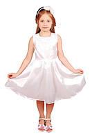 Элегантное нарядное платье 15-405 для девочки от 4 до 9 лет (р. 28-34) ТМ Kids Couture Белый