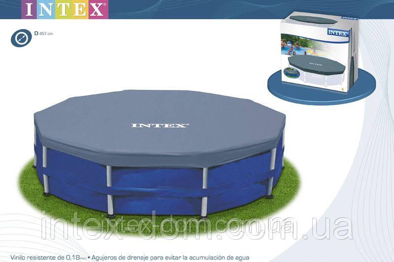 Тент для каркасных бассейнов Intex Pool Cover 457 см INTEX 58901\28032