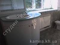 Столешницы для ванной комнаты из литого камня