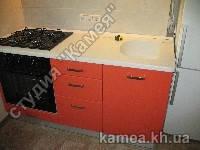 Кухонная столешница из искусственного камня с литой мойкой