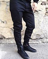 Брюки чиносы мужские на липучках черные - Monochrome