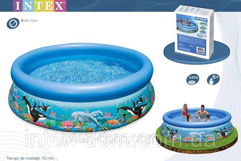 Бассейн 305x76 см, Easy Set Рифы океана, Intex 28124/54900