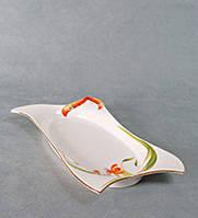 """Блюдо фарфоровое """"Орхидеи"""" подарки женщинам на день Святого Валентина подарки на 8 марта"""