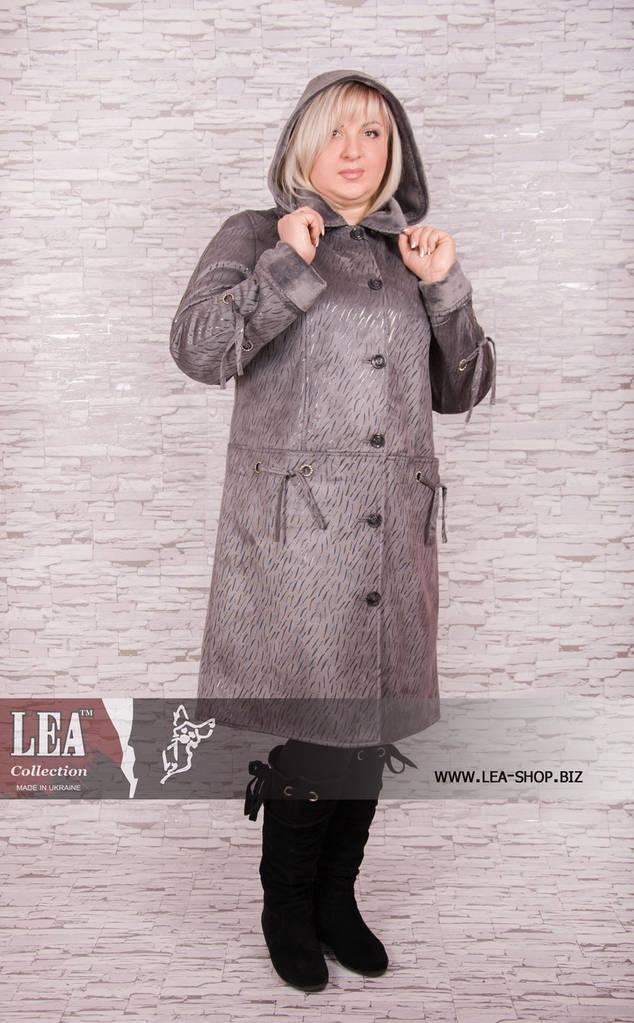 Куртка женская больших размеров с капюшоном на искусственно меху №5 СД