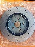 Тормозные диски перфорированные и с насечкой Power Friction, Power Stop, EBC, фото 3
