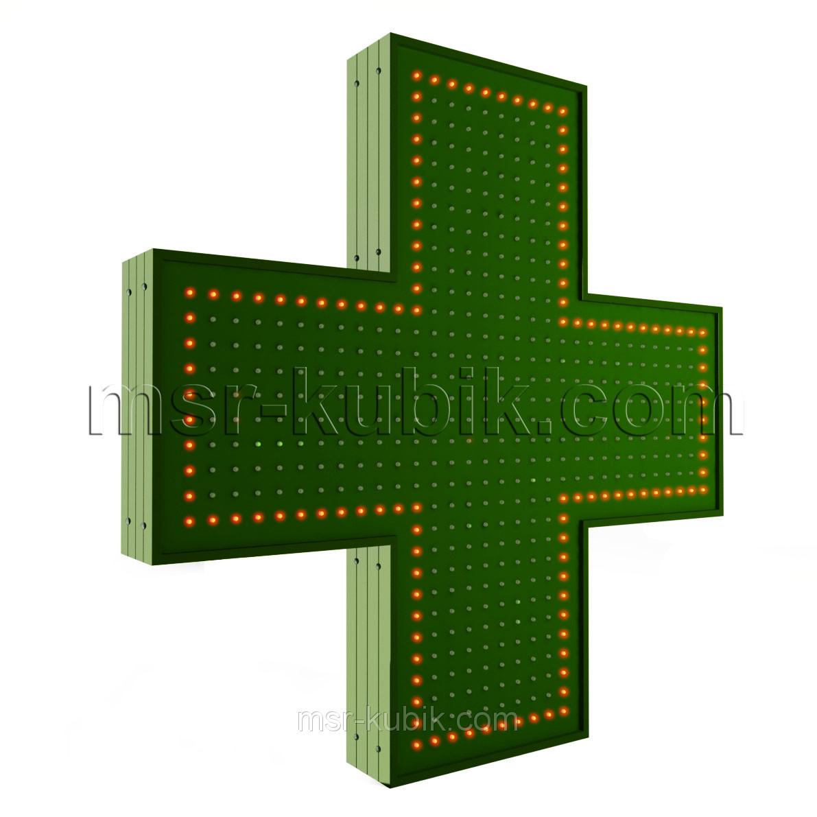 """Хрест для аптеки 900х900 світлодіодний односторонній. Серія """"Standart"""""""