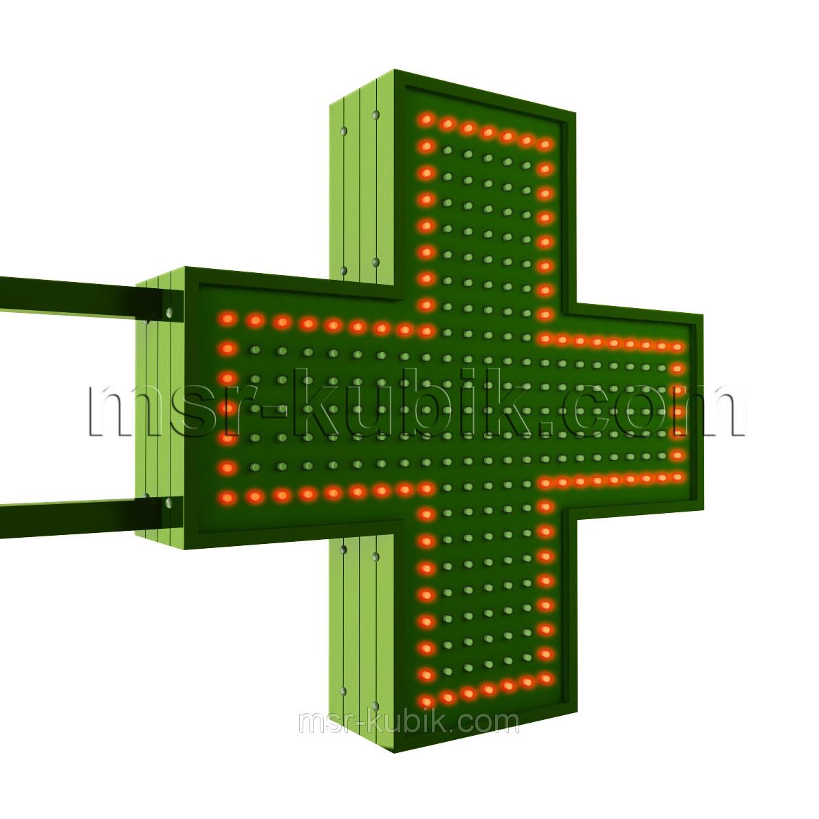Аптечний хрест 500х500 світлодіодний двосторонній