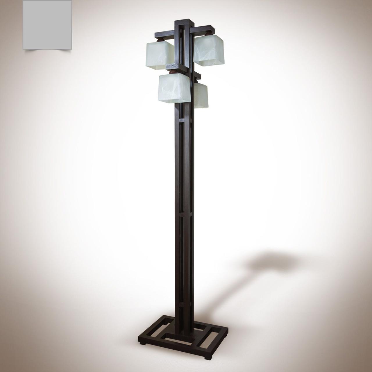 Торшер напольный деревянный 4х ламповый  19040-2