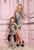 Платье для взрослых и детей 3D