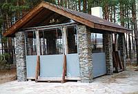 Шторы натяжные прозрачные из ПВХ для обшивки  балконов,  веранд дачных, летних площадок, барбекю.