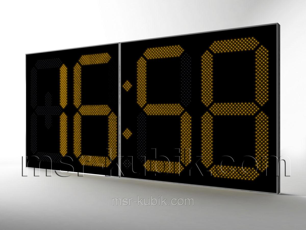 Великі годинники для фасаду з термометром 3000х1400 мм