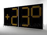 Великі годинники для фасаду з термометром 3000х1400 мм, фото 2