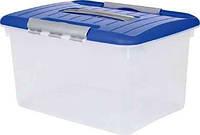 Контейнер для хранения пластиковый с ручкой и застежками 15 л 374Х280Х210 мм Curver CR-00032
