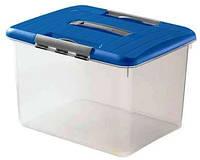 Контейнер для хранения пластиковый с ручкой и застежками 30 л 428Х340Х281 мм Curver CR-00033