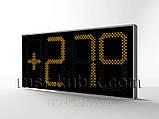 Електронні великі годинник з термометром 1300х620, фото 2