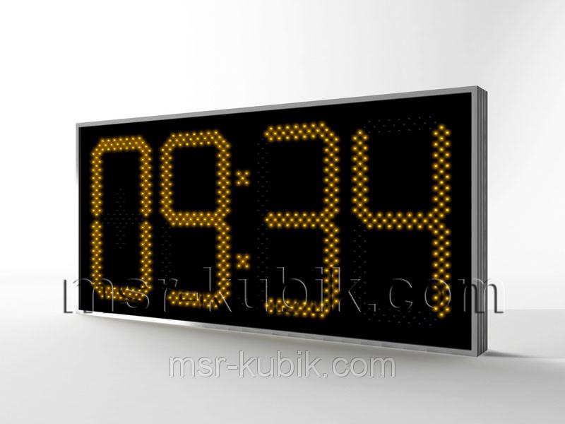 Електронні великі годинник з термометром 1300х620