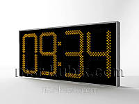 Электронные большие часы с термометром 1300х620