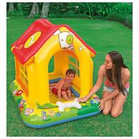 Intex Интекс 57429 Игровой центр  домик, высота борта 14см, с надувными игрушками