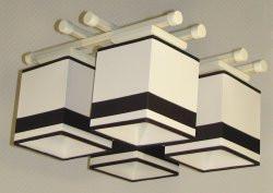 Люстра 4-х ламповая, металлическая, с деревом кремовая для детской комнаты, спальни, кухни 14907-11