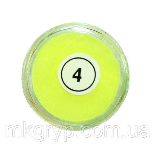 Акриловая пудра My Nail №4 (желтая неоновая)