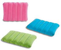 Intex 68676 Подушка  (24шт) надувная, 3 цвета, (43-28-9см) 15грн