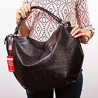 Большая лаковая сумка-шоппер с одной ручкой