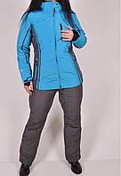 Куртка лыжная женская с синтепуховым утеплителем (мембрана 10000) SNOW HEADQUARTER Размеры в наличии : 42,44,4