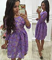 Платье расшитое шелковыми нитями 2 цвета