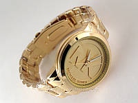 Годинники жіночі в стилі MK - золотисті, фото 1