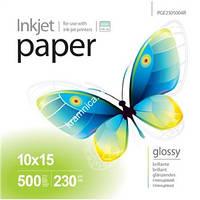 Фотопапір PrintPro глянцевий 230 г/м², 10х15, 500 арк. (PGE2305004R)