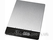 Весы кухонные электронные Clatronic KW 3416 silver, фото 3