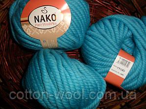 Nako Pure Wool Plus (Нако пур вул)  толстая 100% шерсть 6404