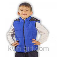 Жилетка детская холлофайбер(синий)
