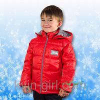 Детская Куртка-Пуховик (красный-синий)