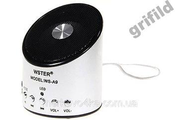 Мини портативная MP3 колонка от USB FM A9 Silver