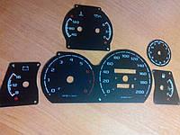 Шкалы приборов Газ 3110 с прозрачными делениями, фото 1