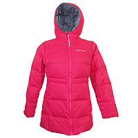 Куртка пуховая для девочек Columbia GLAM HER™ LONG DOWN JACKET розовая WG1438 637
