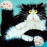 Набор алмазной мозаики Черно-белый кот