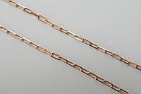 Позолоченная цепочка из серебра 925 пробы - плетение якорь