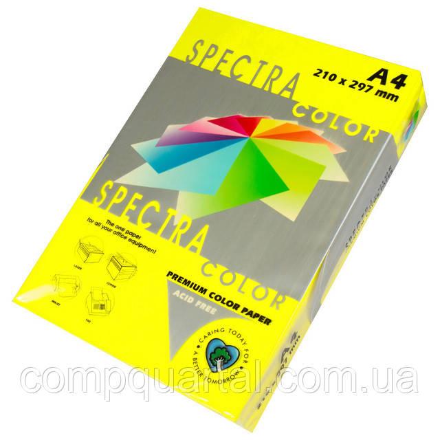 Папір кольоровий 160г/м, А4 250арк. SPECTRA COLOR IT 363 Cyber HP Yellow (Неоновий жовтий)