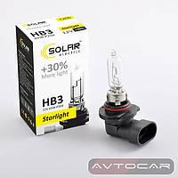Лампа автомобильная HB3 с увеличенным светом на 30% ✔ производитель: SOLAR  ✔ 12W